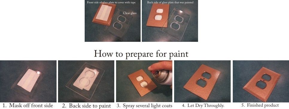 Low iron clear glass switch plates painting instructions