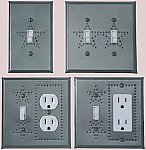 Pewter switch plates punched star design