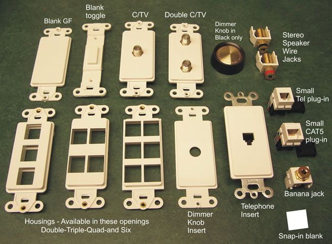 Ivory Metal Switch Plates low voltage products