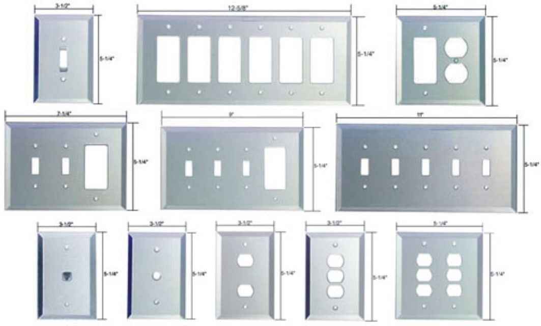 Electrical Switch Plates Mirror Switchplates  Mirror Light Switch Plates Mirror Outlet