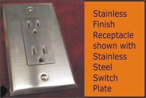 Stainless Steel Switch Plates and Socketops Peel and Stick