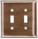 Dark brushed copper switch plates