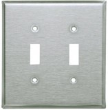 Brushed Nickel switch plates