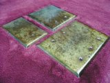 Copper Patina Blank Switchplates