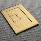 APC-E9762BR Floor Box Cover 2-gang rectangular in Brass