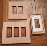 Screw-less Custom wood switch plate covers