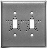 Pewter Star Design Switch Plates