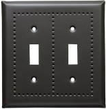 soft black border design switch plates