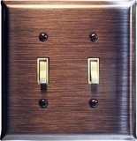 Brushed Copper Switch Plates