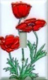 Poppy Porcelain enamel switch plates