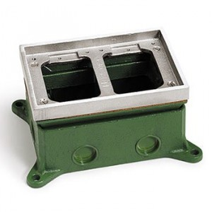 AP-1102-58 Flush Mount Floor Box for Concrete Floors