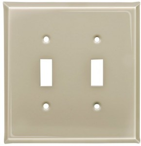 Almond finish switch plates