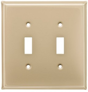 Ivory finish switch plates