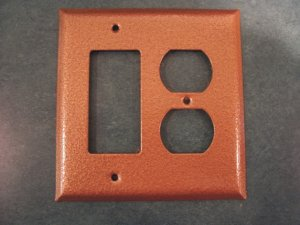 Hammered Mystic Copper switch plate covers