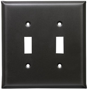 Soft Black switch plates