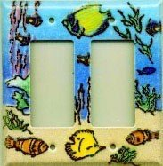 Coral Reef Porcelain Enamel switch plates