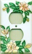 Magnolia switch plates