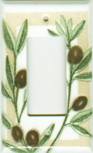 Olives Porcelain Enamel Switchplates