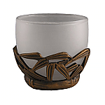 #AP1826 Bamboo Vanity Top Votive