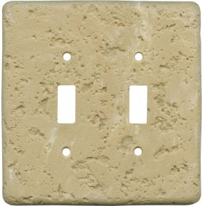 Simulated Stone custom switch plates